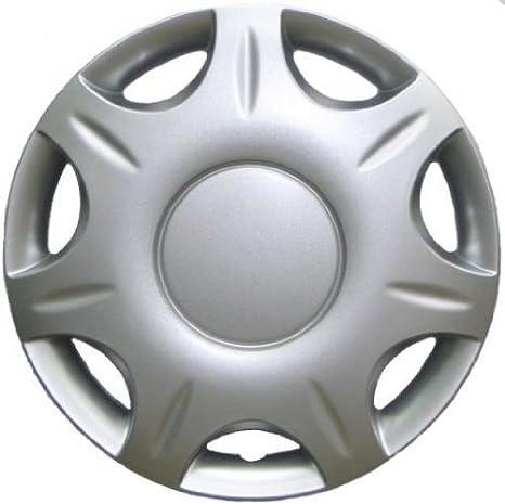 Tunershop - Tapacubos (4 unidades, tipo Aramis, apto para Seat, 15 pulgadas), color plateado: Amazon.es: Coche y moto