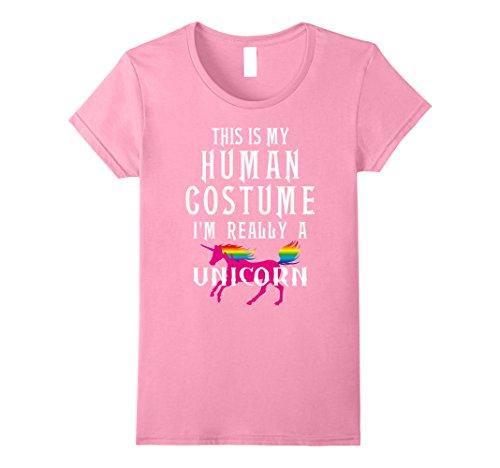 Group Halloween Costumes For Teenagers (Womens Unicorn Halloween Costume Shirt Humor Tee Girls Teens Women Small Pink)