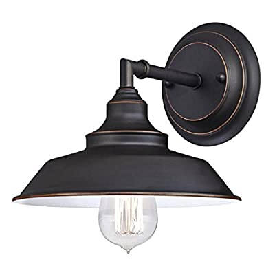 Westinghouse Lighting Indoor Wall Fixture One Light Oil Rubbed Bronze Finish