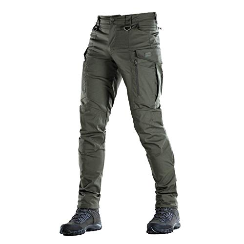 Conquistador Flex - Tactical Pants Men - with Cargo Pockets (Army Olive, M/R)