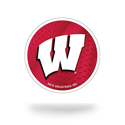 NCAA Wisconsin Badgers Team Tattoo, Red, White, 5-inches by 3.5-inches by 0.2-inch