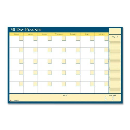 AbilityOne - Reversible and Erasable Non-Dated 30/60 Day Flexible Planner - 48'' x 32'' 7520-01-585-0980 by AbilityOne
