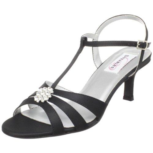 Dyeables Black Satin (Dyeables Women's Opal Ankle-Strap Sandal,Black Satin,8.5 B US)