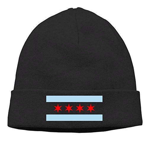 XINYE-ha Men's Chicago City Flag Daily Beanie Hat,skull Cap - Near Shopping Chicago