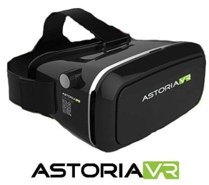 Astoria VR (Latest Edition) 3D Immersive Virtual Reality Headset, Glasses for 3D Videos Movies Games, Fits with iPhone, Samsung, HTC, LG, Sony, Moto Smartphone - Glasses Frames Virtual