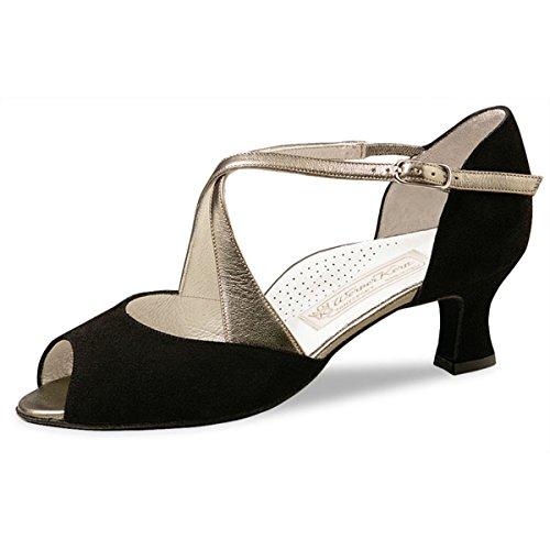 Werner Kern–Zapatos de baile para mujer Gaby 5ante negro