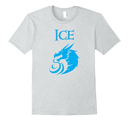 Fire And Costume Couples Ice (Mens Halloween Costume T-Shirts - Fire and Ice Dragons Medium Heather)