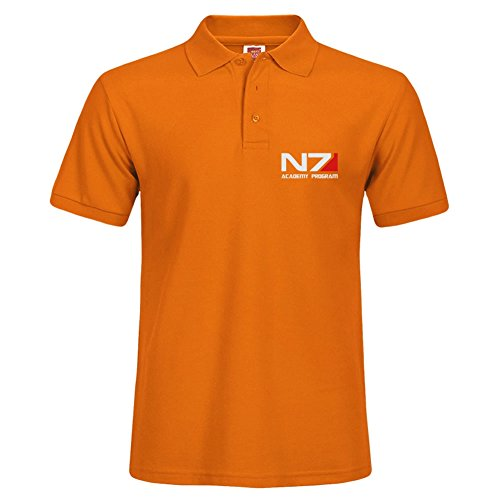 New Men Stylish Short Sleeve Orange Casual Polo Shirt Xxx-large T-shirts Tee Tops N7 Academy - Allen Tx Outlet