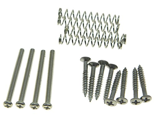 Dopro Imperial/USA Thread Humbucker Pickup Ring Humbucker Pickup Height Screws Pickup Surround Frame Mounting Screws Springs Fits Gibson/EMG/Seymour Duncan/Dimarzio Nickel