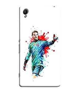 ColorKing Football Neuer Germany 03 White shell case cover for Sony Xperia Z5 Premium