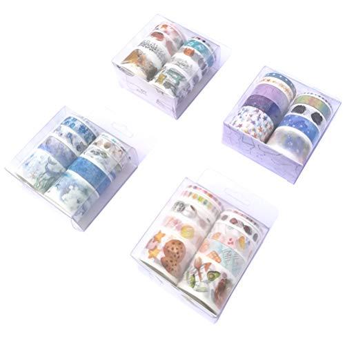 - Washi Tape Set (4 Box, 40 Rolls) Kawaii Cat Footprint Cartoon Girl Moon Phase Constellation Stars Marine Life Food Popsicle Fruit Cooking Tool Decor Label Sticker for Art Project Scrapbook Journal