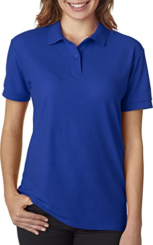 Gildan - Ladies DryBlend Double Pique Polo Shirt - 72800L-Royal-XL (Blend Pique Knit Sport Shirt)