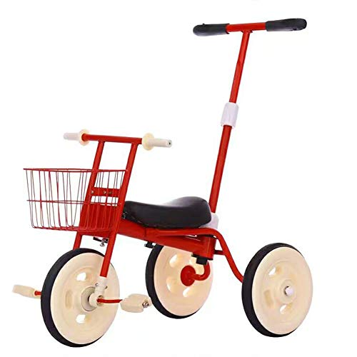 Kids Tricycle with Detachable Push Handle 3 Wheel Toddlers Children Ride on Pedal Trike Bike 1-5 Years Pushrod Stroller