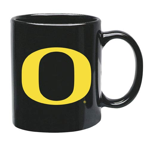 (Memory Company Oregon Ducks 15 oz Black Ceramic Coffee Cup)