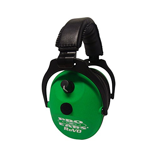 Pro Ears ReVO Kids Full Spectrum Electronic Safety Ear Muffs, Neon Green