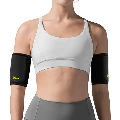 Hot Shapers Hot Arms - Adjustable Arm Trimmer Sweat Bands with Phone Pocket for Running (Large)