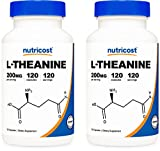 Nutricost L-Theanine 200mg; 120 Capsules (2 Bottles) - Double Strength