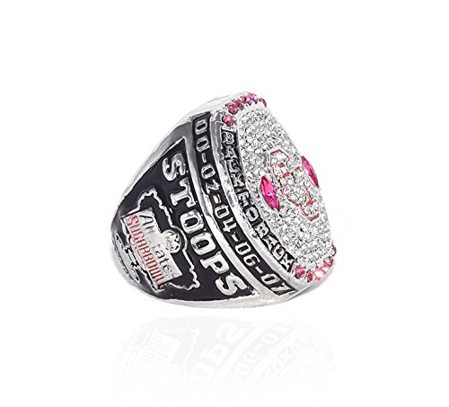 UNIVERSITY OF OKLAHOMA SOONERS (Bob Stoops) 2016 ALLSTATE SUGAR BOWL CHAMPIONS (Back to Back Champs) Collectible Replica NCAA Football Championship Ring with Cherrywood Display Box