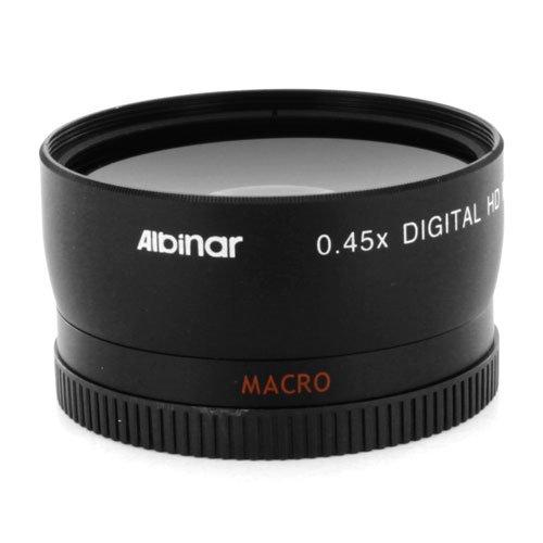 Black Albinar 0.45x 58mm Wide Angle HD MC Fisheye Lens with Macro
