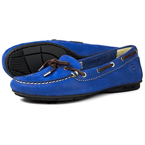 Bay Royal Ballena Deck Orca Shoes Womens Leather Blue dFwSqnx