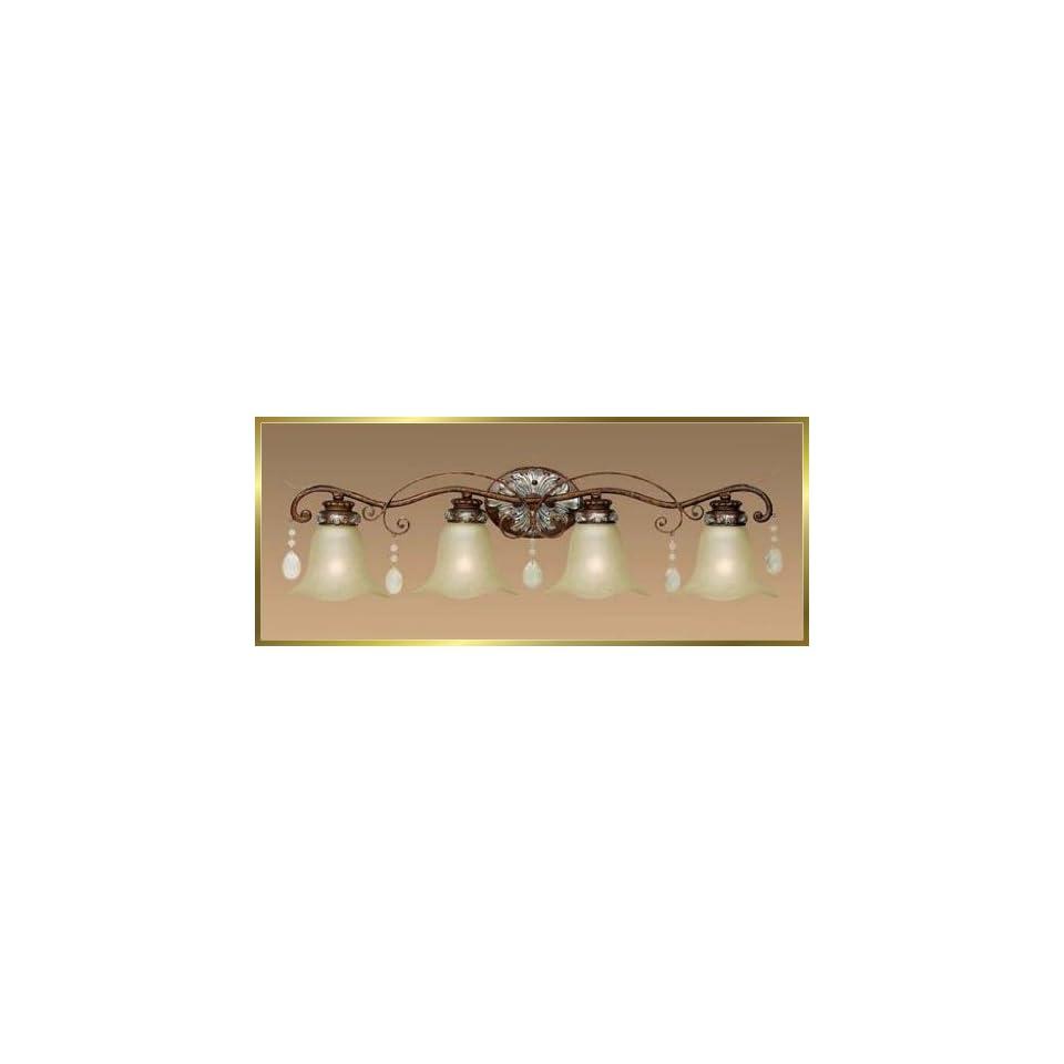 Wrought Iron Wall Sconce, JB 7355, 4 lights, Oxide Bronze, 33 wide X 9 high