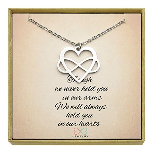 Memorial Jewelry Miscarriage Necklace Infant Child Loss Infinity Heart Necklace Sympathy Gift -