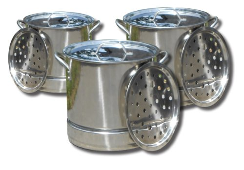 King Kooker KKSS32-52 Stainless Steel 3-Pot Set by King Kooker
