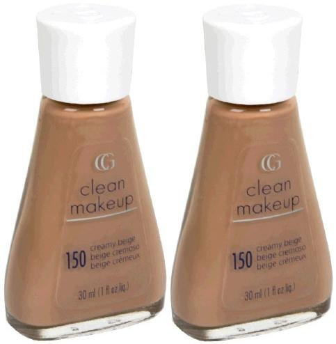 (CoverGirl Clean Liquid Make Up #150 Creamy Beige (Qty. Of 2 Bottles as shown on Image)Limited/Discontinued)