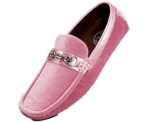 Pantofole Da Amali Uomo Velluto Fannullone Smoking In Paisley E Disegni Solidi Stili Roberto Piero Rosa / Solido