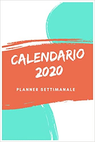 Calendario Annuale 2020 Italiano.Amazon Com Calendario 2020 Planner Settimanale A5 Agenda