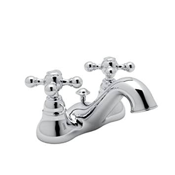 Rohl AC95X-APC-2 Cisal Low Lead Centerset Bathroom Faucet with Metal ...