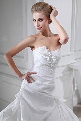 Vintage Ausschnitt BRIDE Elfenbein up Taff Pick GEORGE Brautkleid Herz Elegant zIpc5q