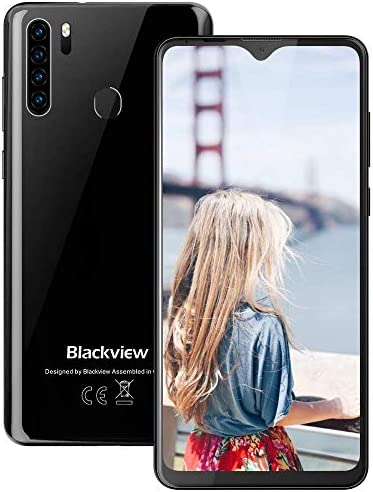 Blackview A80 Pro-6.49 inches Smartphone, 4GB RAM+64G ROM Unlocked Cell Phone with Quad Camera 13MP, 4680mAh Battery, 4G Global Version Dual SIM Phone, Fingerprint, Face ID – Black
