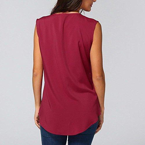 Rosso BZLine femmes shirt T Stampe Maglione Donna Faq6F