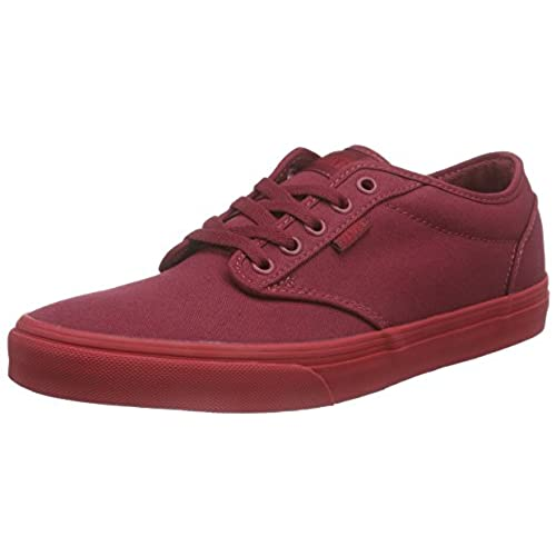 d0d68d6b85 Vans Atwood Men Shoes (Check Liner) Burgundy Red Sneakers durable modeling