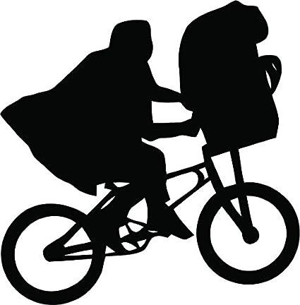 Bazinga Designs ET and Elliot Bike calcomanía troquelada de Vinilo ...