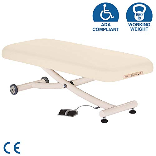 """EARTHLITE Electric Lift Massage Table ELLORA VISTA – Most Popular Spa Lift Massage Table, Comfortable & Reliable, Tattoo Table (Flat, Tilt or Salon Top) (28"""", 30"""", 32"""" x 73"""") – Made in USA"""