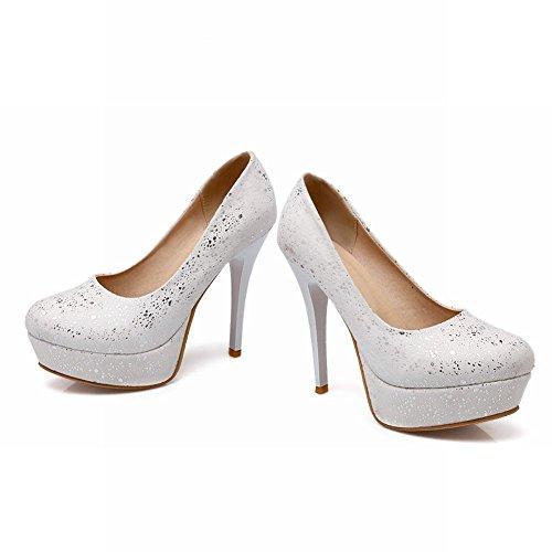 Carol Shoes Fashion Womens Dancing Party Sweet Elegance Bridal Wedding Platform High Stiletto Heel Dress Pumps Shoes White mFHaUA10