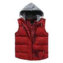 Women's Winter Outwear Vest Detachable Hood Waistcoat