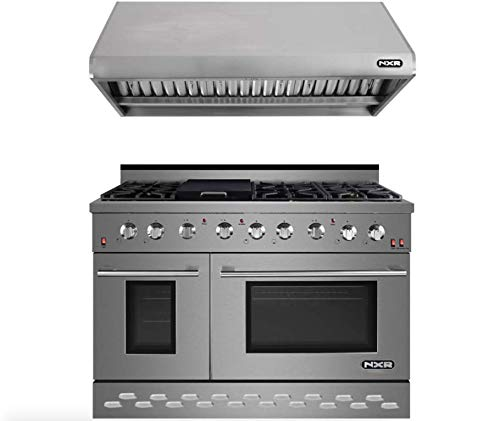 NXR RHBD SC4811 Bundle 48 in. 7.2 cu. ft. Professional Style Gas Range Hood