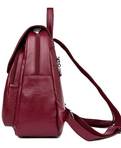 Gmxbb181557 Zaini Agoolar Blu Daypack Donne Bordeaux Borse Weekender Spalla Pu Casuale T8xnd1Xwq