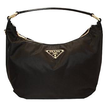 fb6e755c6a48b Prada Handtasche Nylon Leder schwarz PRHB50031  Amazon.de  Bekleidung