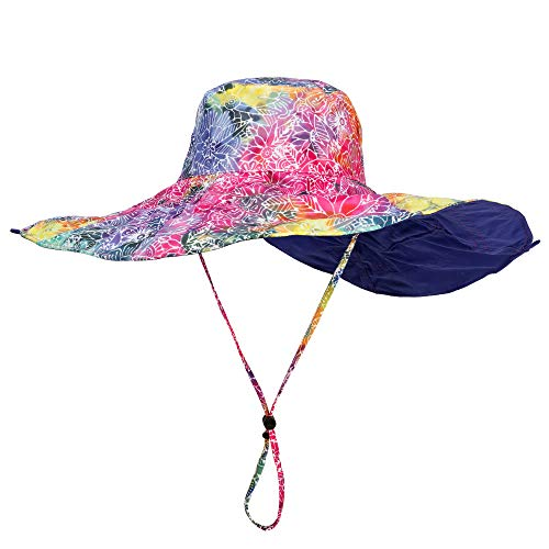 (Laurel Burch Rainbow Batik Print Reversible Sun Hat)