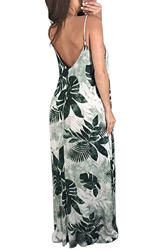 Loose Neck Dress Beachdress Spaghetti Women's Green Tie Dye Oversized Bodycon4U V Maxi Strap Beach Tz7qY
