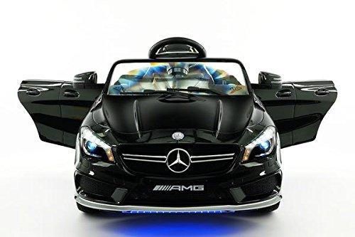 Kids Ride On Car Toy MP3 USB Player Battery Powered RC Parental Remote Toy Licensed Mercedes CLA45 12V (Licensed Car)