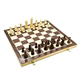 """Chess Smartplanet Game 15.4"""" Wooden Chess Set Large for Kids and Adults Interior"""