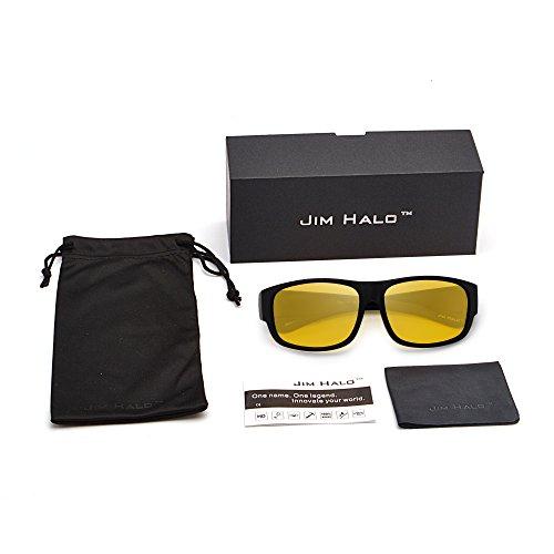 de Espejo Hombre Gafas Amarillo Sol Negro Oversize Fit Over Anteojos Mujer Mate Desgaste de Polarizadas xq1U1YgX