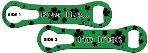 V-ROD™ Bone Bottle Opener and Pour Spout Remover: Kiss Me… I'm Irish! Kelly Green