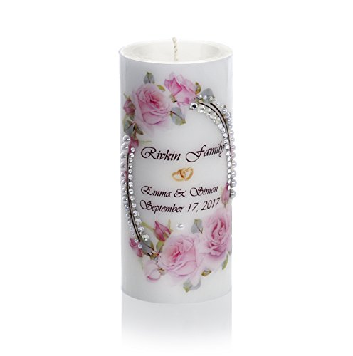 Sam & Wishbone Customized Luxury Wedding Candles Unity Set from The Rose Collection by Sam & Wishbone