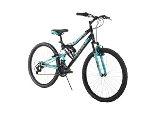 26 Inch Huffy Women's Trail Runner Mountain Bike Dual Suspension Frame and Suspension Fork, Black by Huffy